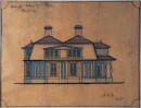 Architectural drawing of East Side Elevation of Mill Hey