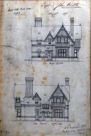 Architectural drawing of Halcyon House