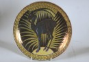 round plate depicting ibex