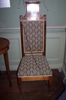G59 Upholstered mahogany chair