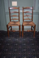 G68 Ladder-back chair with rush seat