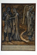 A208.1 Lancelot and Guinevere, Design for Stained Glass