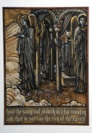 A208.4 Angels Guarding the Grail, Design for Stained Glass