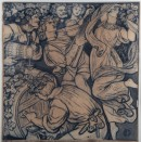 A267, Cartoon for Stained Glass: The Parable of the Vineyard - V: The Vintage Feast
