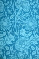 Blue patterned wallpaper
