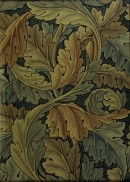 Swirls of large intertwined leaves in shades of brown and green