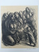 kneeling woman surrounded by children