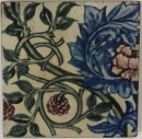 Tile with rose