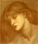 Chalk drawing of a woman's head