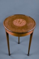 circular table with inlay