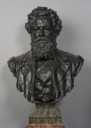S35 Bust of William Morris, Henry Charles Fehr, c1900