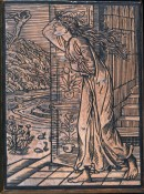 R193 Cupid leaving Pysche woodblock