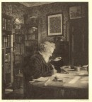 P630 William Morris at his desk, Kelmscott House,