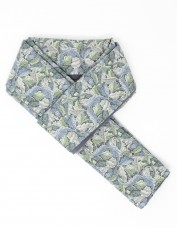 Acanthus Lined Scarf (blue)