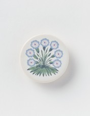 Celia Birtwell for William Morris Gallery Alice Primula blue brooch