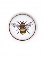 Bumblebee Round Brooch