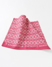 Cambridge Imprint Persephone Raspberry Tea Towel