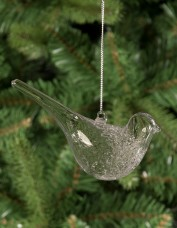 Glass Bird Hanging Decoration