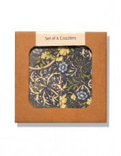 Box of coasters decorated in Seaweed pattern