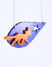 I Am Acrylic - Leaf and Fox Necklace