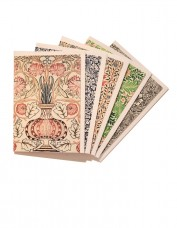 Selection of 5 greeting cards with Morris patterns