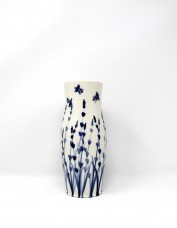 Mia Sarosi - Bees and Lavender Vase (large)