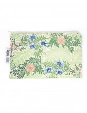Larkspur Cotton Zip Pouch