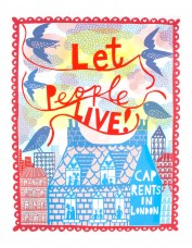 'Let People Live!' Screenprint