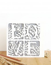 'Love' Laser Cut Card