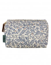 Morris & Co Love is Enough Linen Cosmetic Bag