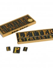 Letter press magnet set