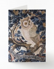Owl embroidered card