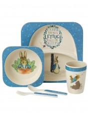 Peter Rabbit Bamboo Dinner Set (blue)