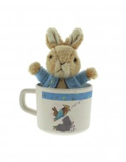 Peter Rabbit Bamboo Mug with Toy (blue)