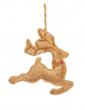 Embellished Prancing Reindeer Decoration