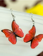 Red Morpho Butterfly Earrings
