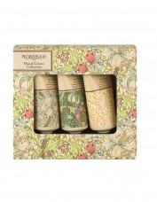 Three miniature, idyllic hand creams, small in size grand in performance using vitamin E, cocoa butter, shea butter