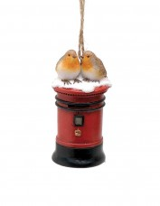 Postbox Robins Decoration