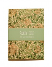 Sketchbook decorated with Honeysuckle pattern