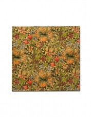 Fabric napkin printed with William Morris design