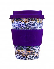 Ecoffee Small Reusable Cup - Peacock Print