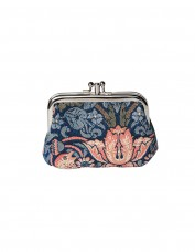 Strawberry Thief Frame Purse (blue)