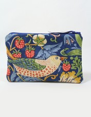 Strawberry Thief Cosmetics Bag (indigo)