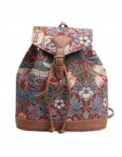 Strawberry Thief Rucksack (red)