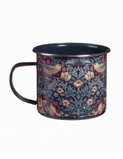 strawberry thief metal mug
