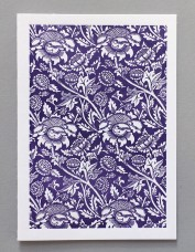 William Morris Letterpress - Wey (purple)
