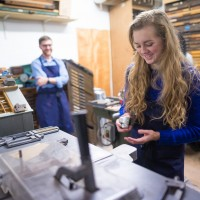 Letterpress printing workshop for young people