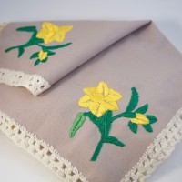 embroidered cloth square crop