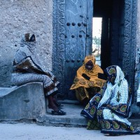 Women wearing kanga in Tanzania