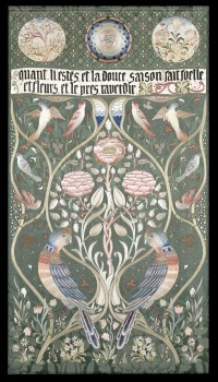 'Spring and Summer' panel, designed and embroidered by May Morris, c. 1895–1900. Private collection
